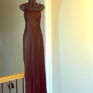 CACHE sz 8 beaded gown formal cruise prom dress